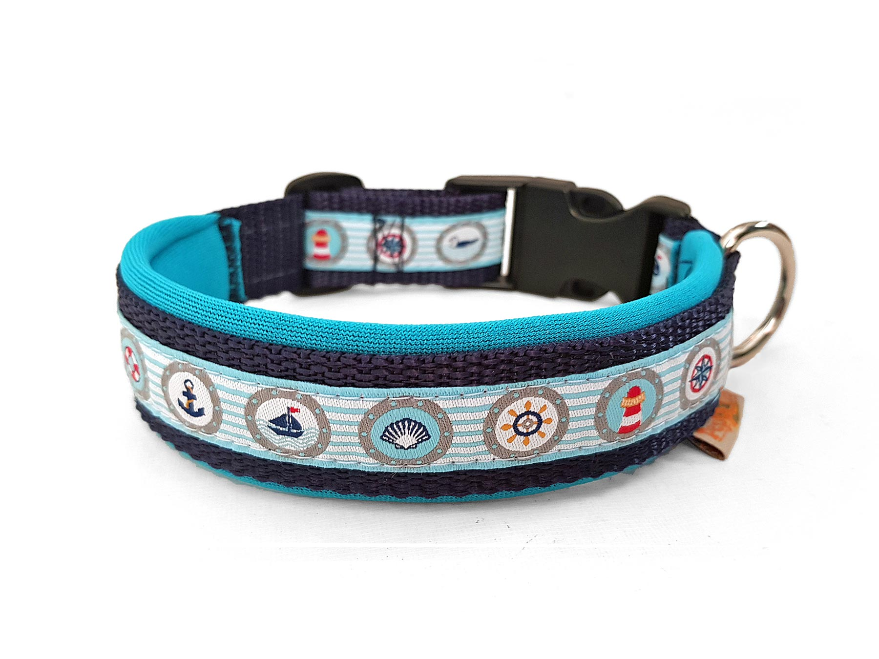 Hundehalsband Omaremio dunkelblau