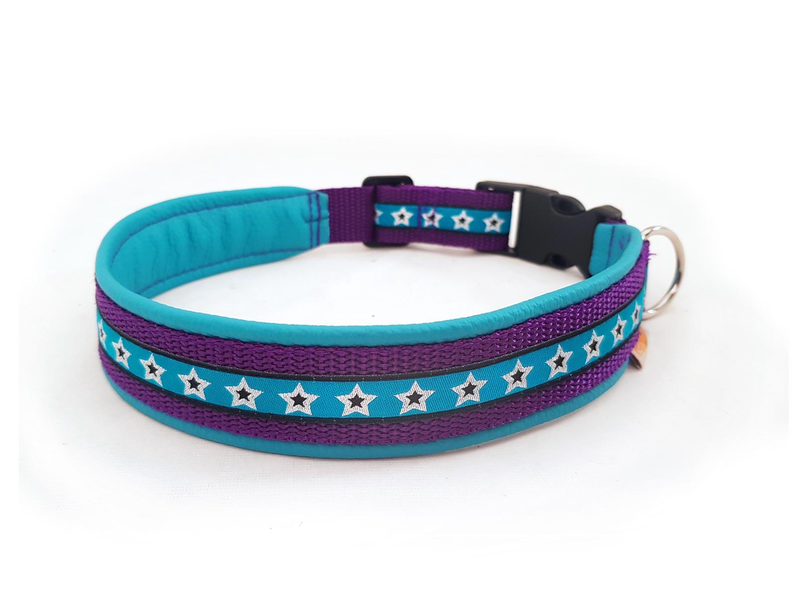Hundehalsband Starline lila türkis