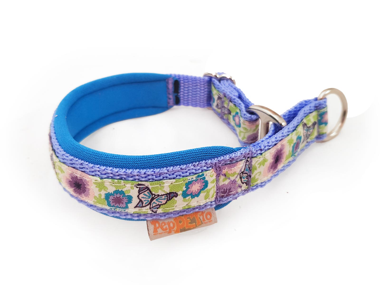 Hundehalsband Mariposa hellblau