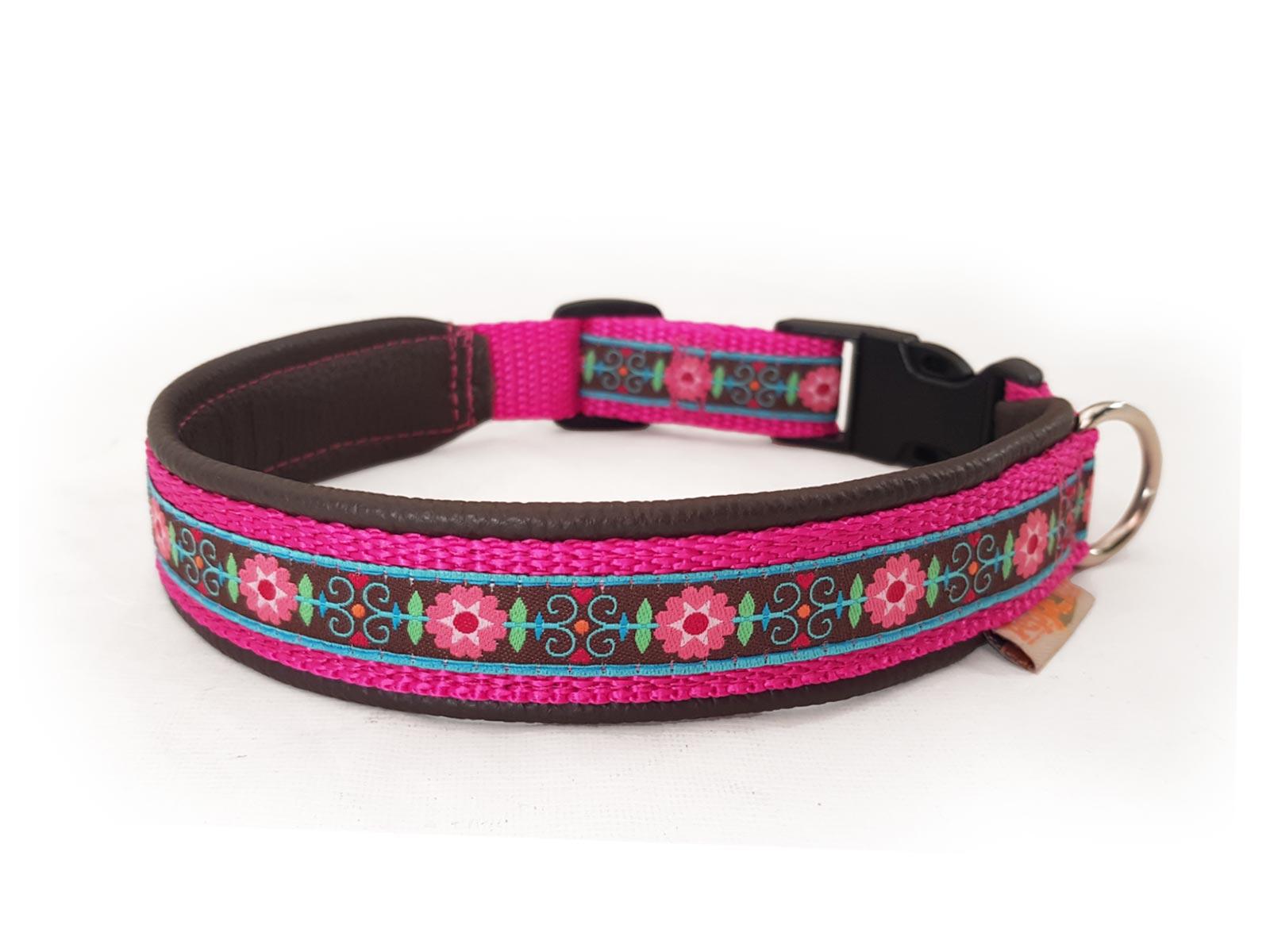 Hundehalsband Orchidea pink